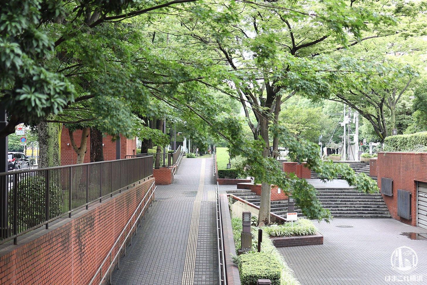伊勢佐木長者町駅近くの大通り公園