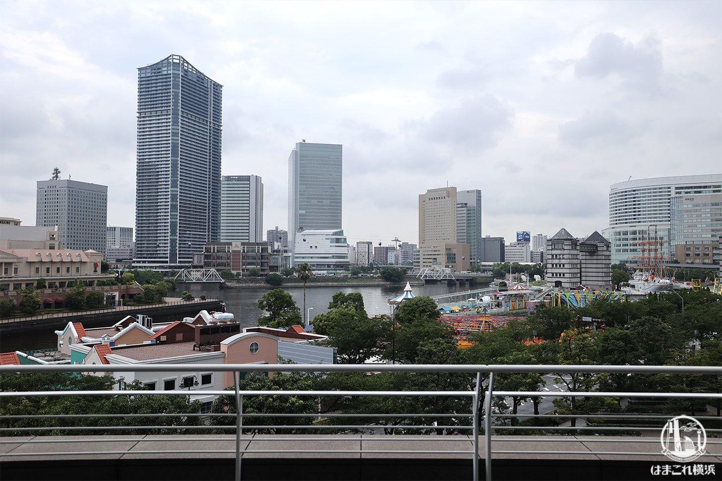 スーツァンレストラン陳から見える横浜みなとみらいの景色