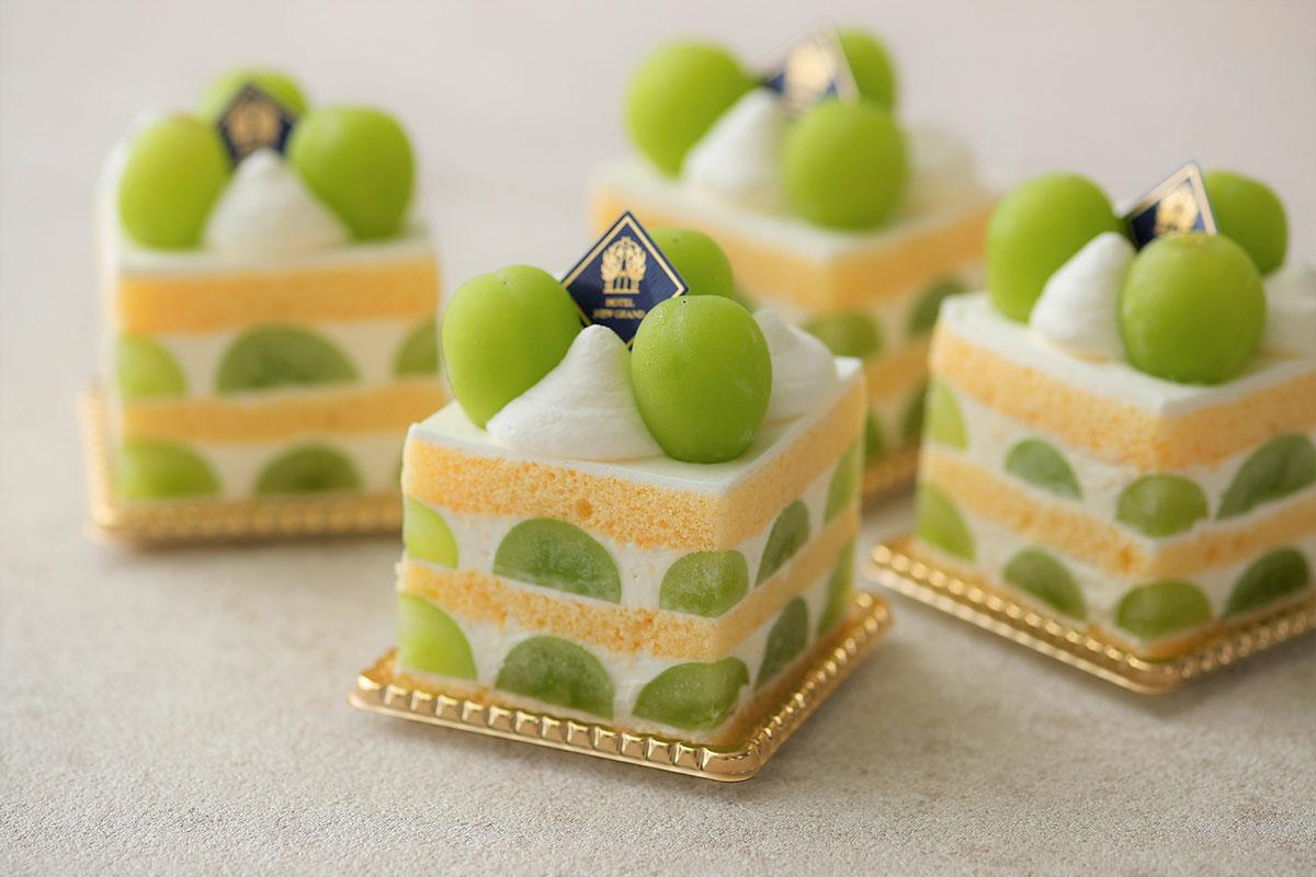 シャインマスカットのプレミアムショートケーキ