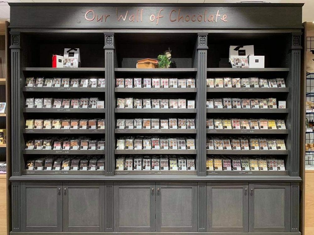 壁一面のチョコレートウオール