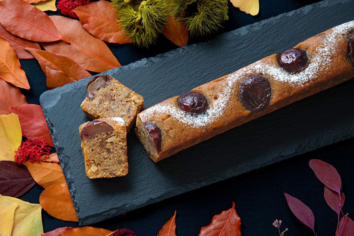 鎌倉紅谷に栗×くるみ×和三盆のパウンドケーキ登場!秋色に彩られた小道をイメージ