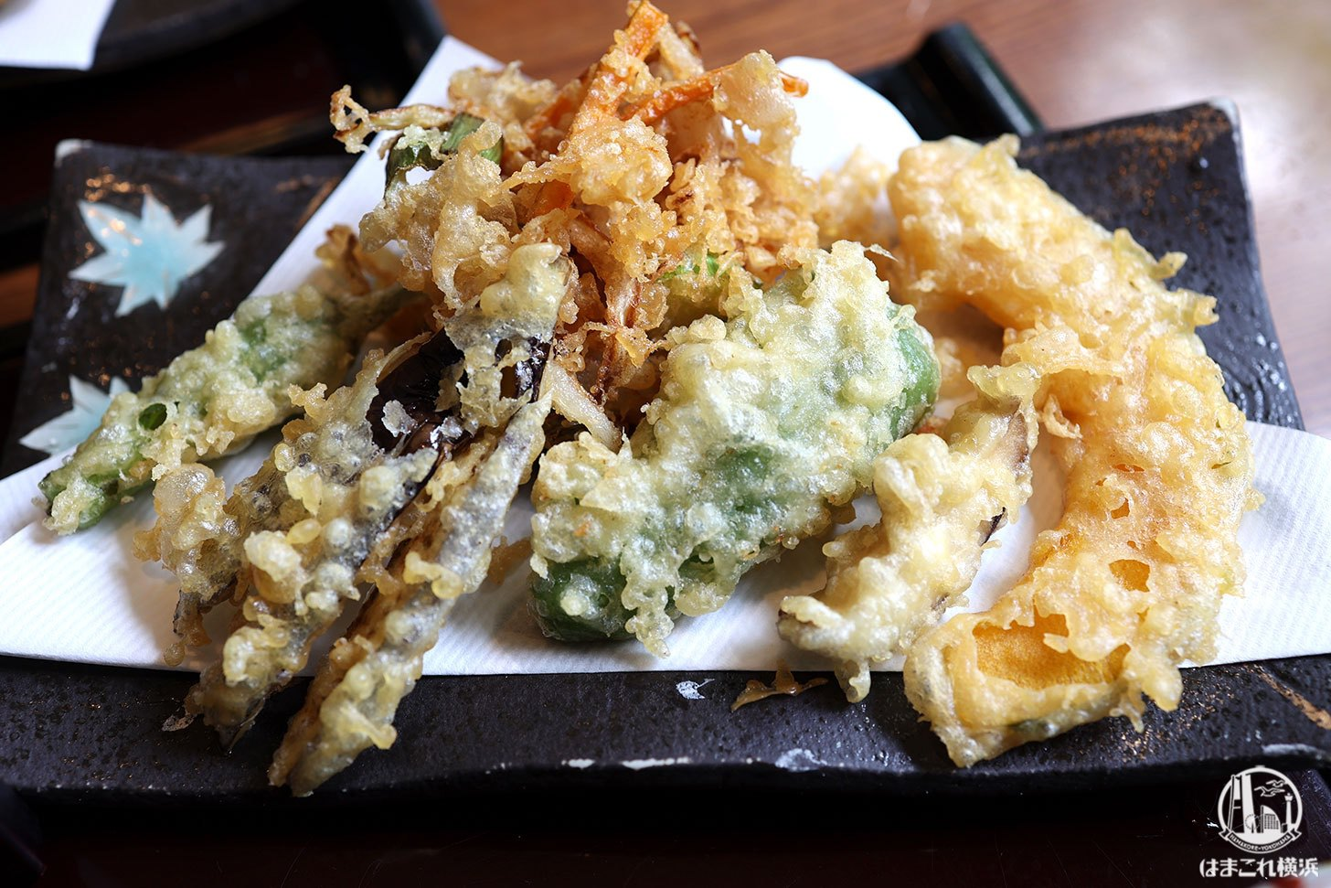 野菜天ざるランチ 野菜天ぷら