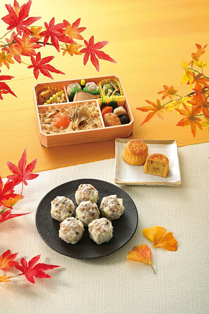 崎陽軒「秋穫シリーズ」発売!きのこシウマイやおべんとう、焼き芋の月餅