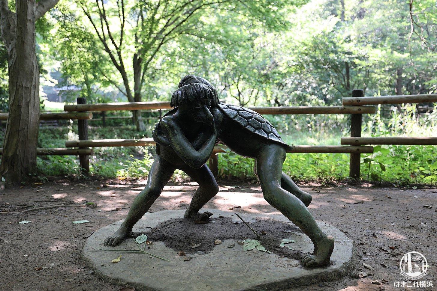 舞岡公園で見つけたカッパ