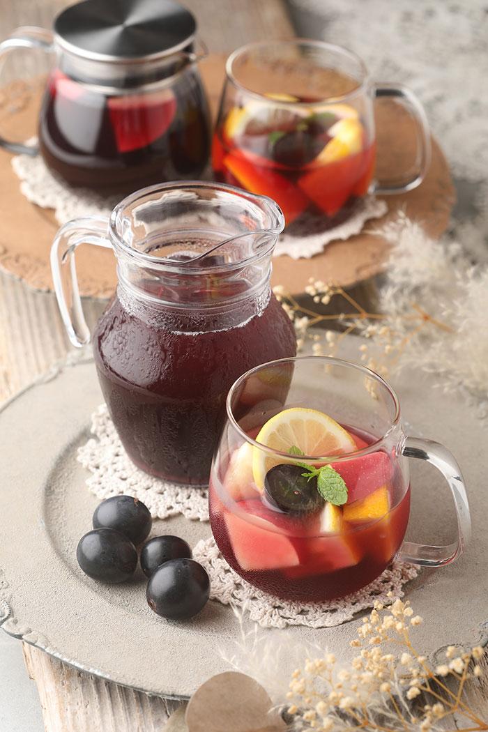 ぶどうと果実のフルーツティー