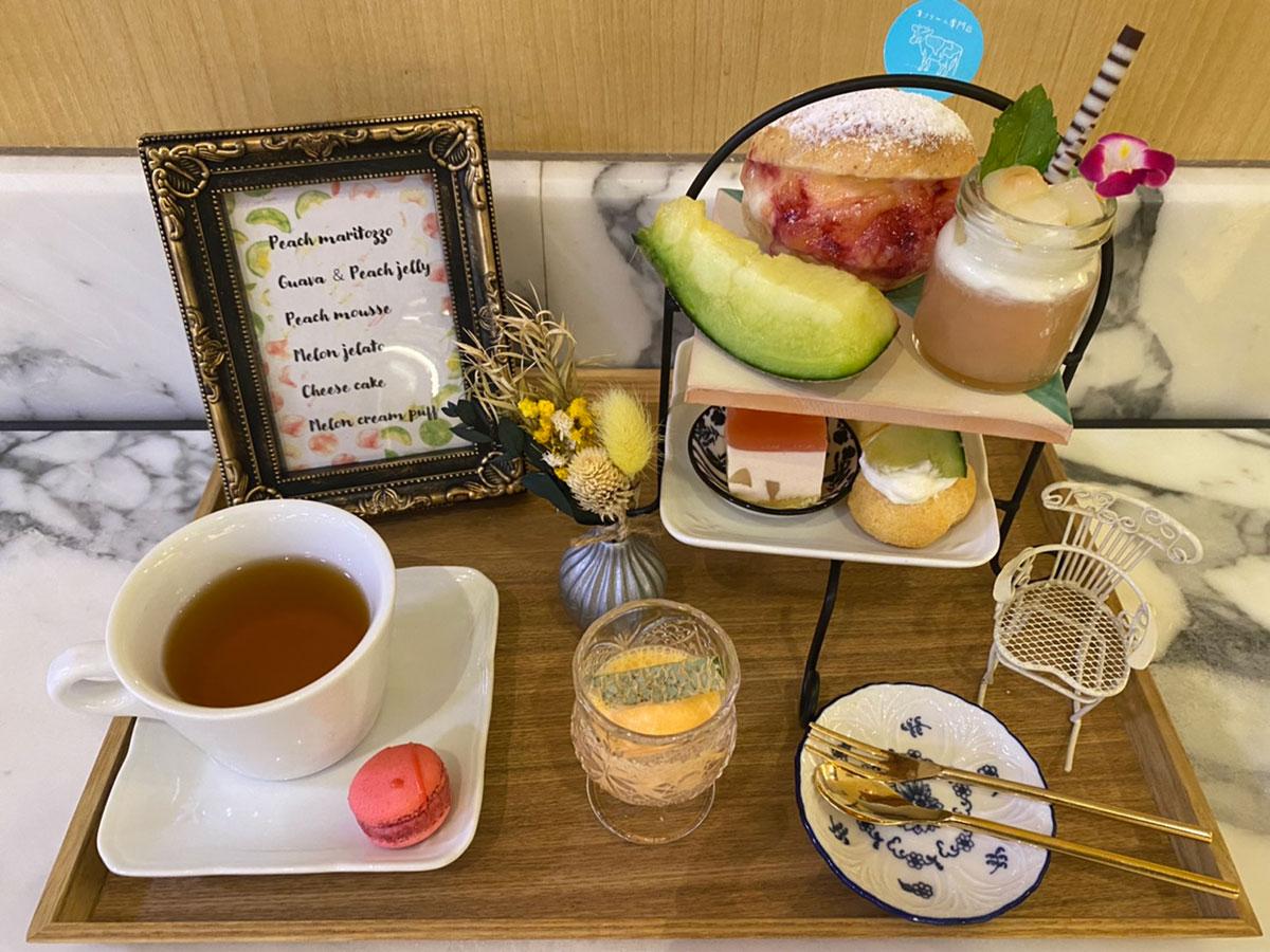 横浜スパゲティ&カフェに桃とメロンのアフタヌーンティセット新登場!みなとみらい東急スクエア