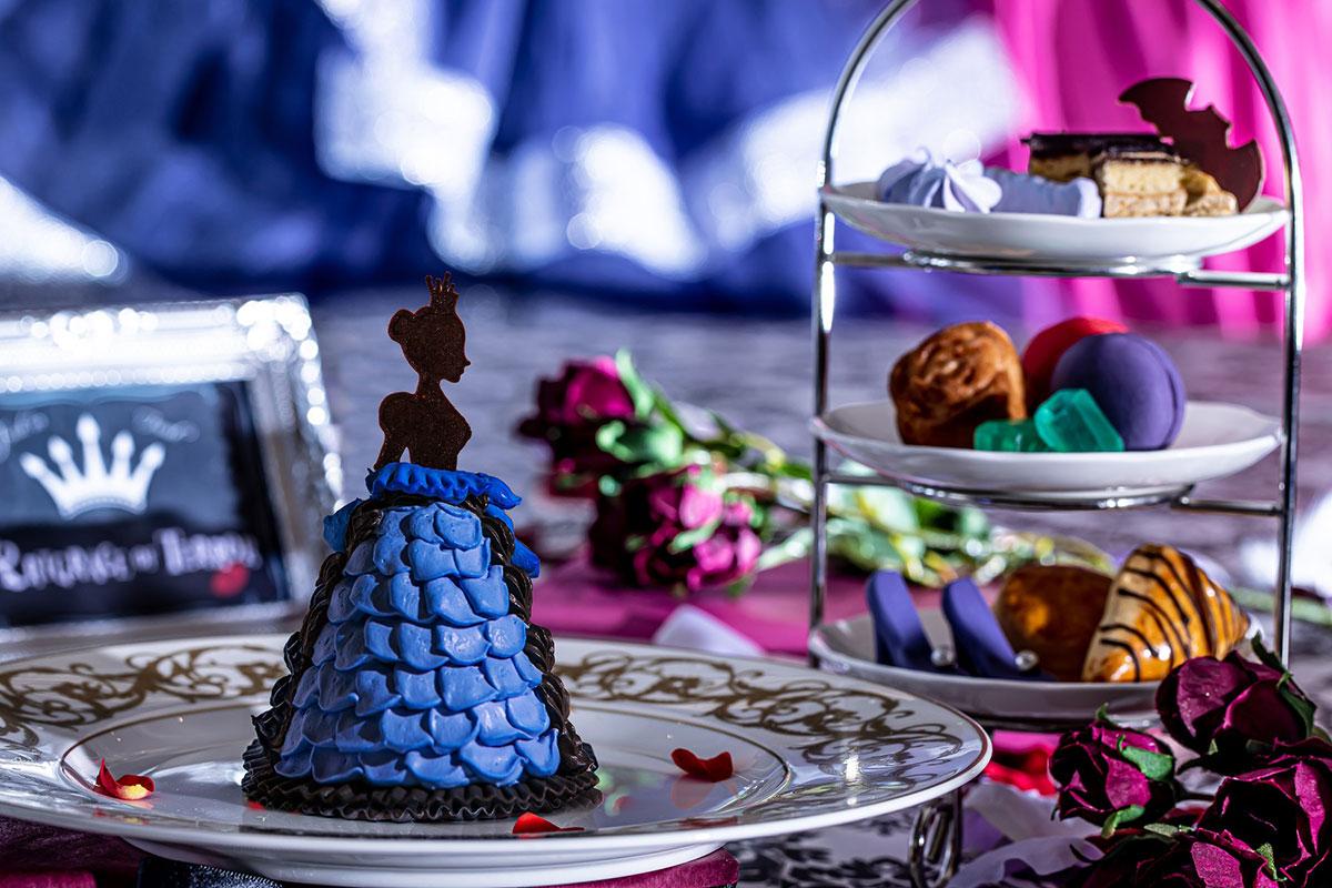 横浜でヴィランズ(悪役)の世界を楽しむアフタヌーンティー開催!ダークプリンセスのドレスケーキなど