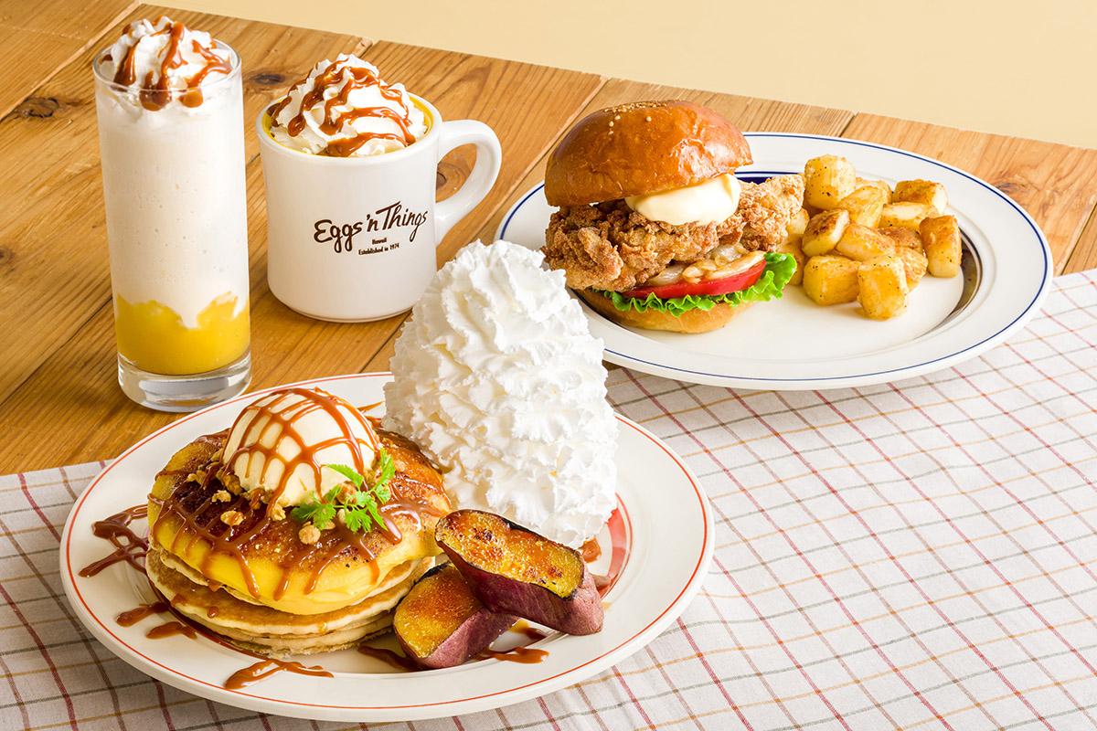 エッグスンシングス「さつまいもブリュレパンケーキ」発売!横浜みなとみらい店