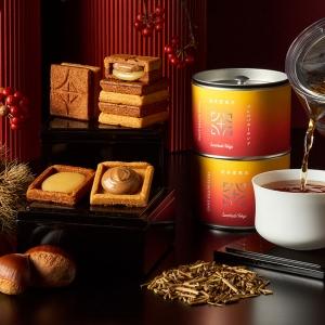 プレスバターサンド、煎茶堂東京とのコラボ「棒ほうじ茶缶セット」販売!バターサンド〈栗〉単品も
