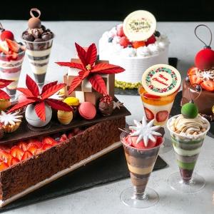 新横浜プリンスホテル、世界各国のスイーツをイメージしたクリスマスパフェやケーキ販売!