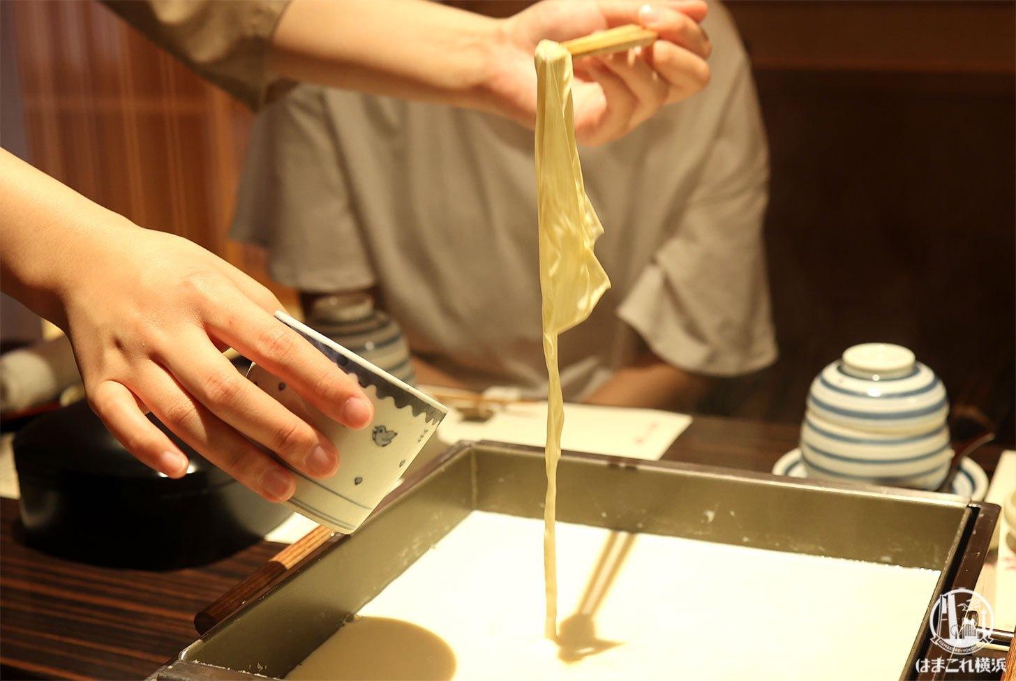 梅の花・横浜スカイビル店で引き上げ湯葉や湯葉の懐石料理!個室は大切な集まりにおすすめ