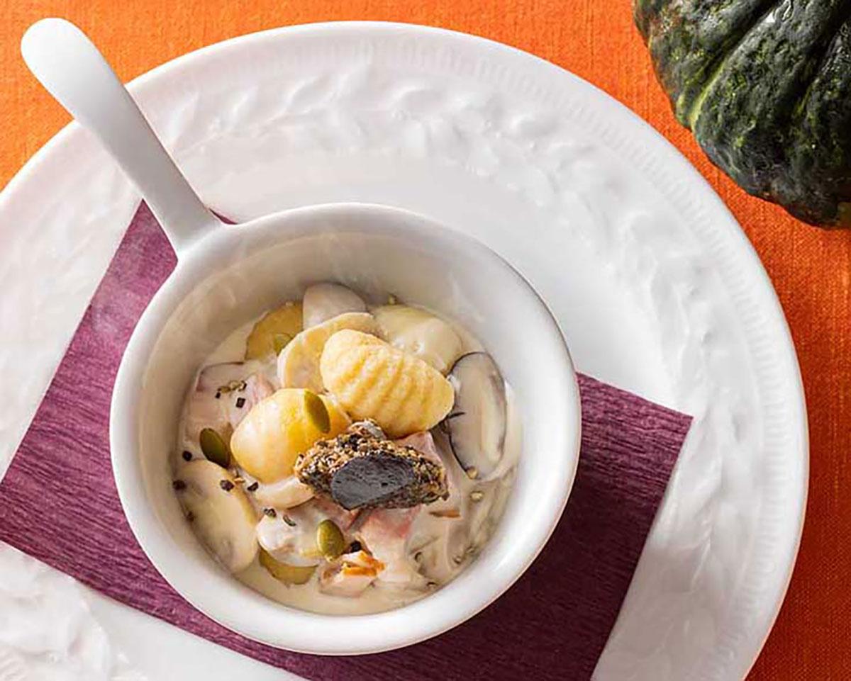 トリュフ薫る茸のクリームニョッキ