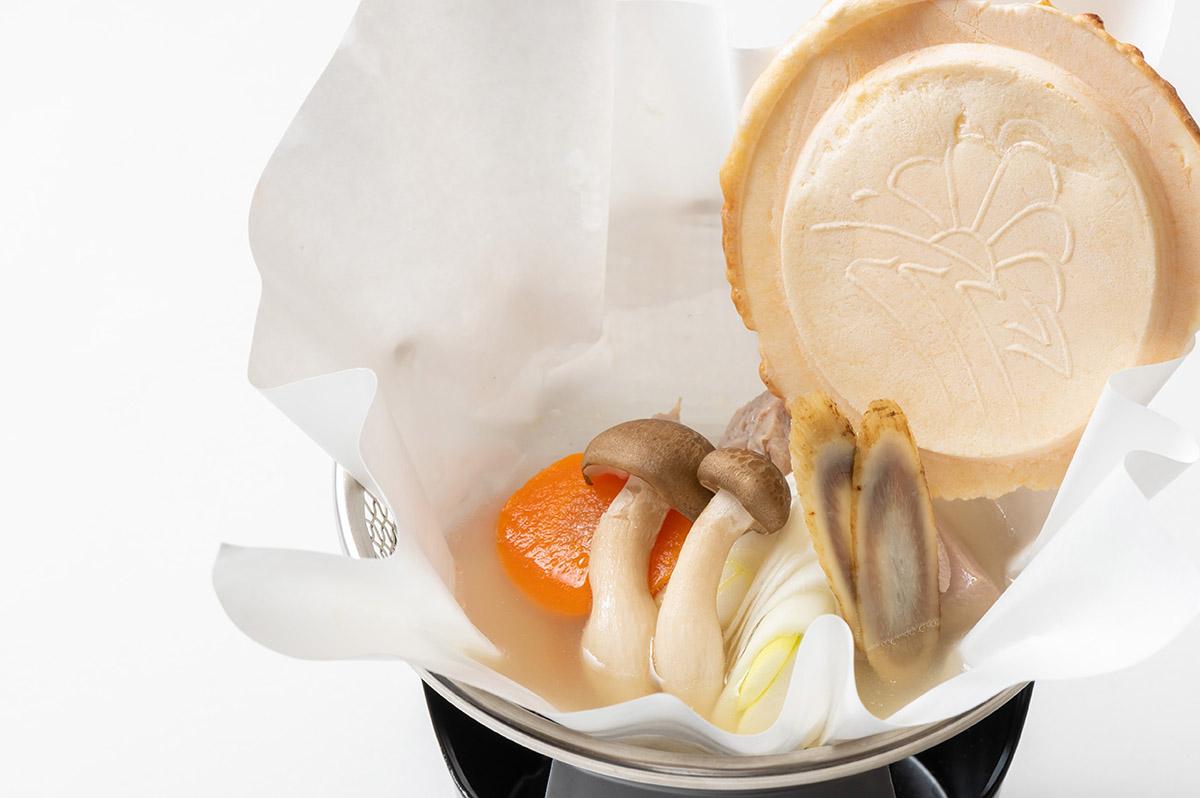 八戸せんべい汁の紙鍋