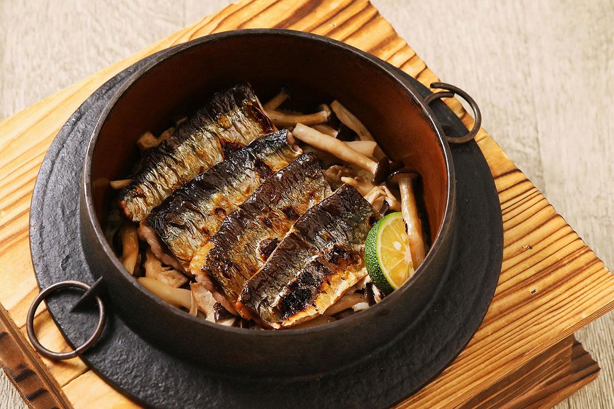 すだち香る秋刀魚の釜飯