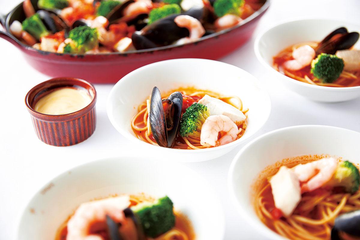 魚介のスープスパゲッティ ブイヤベース風