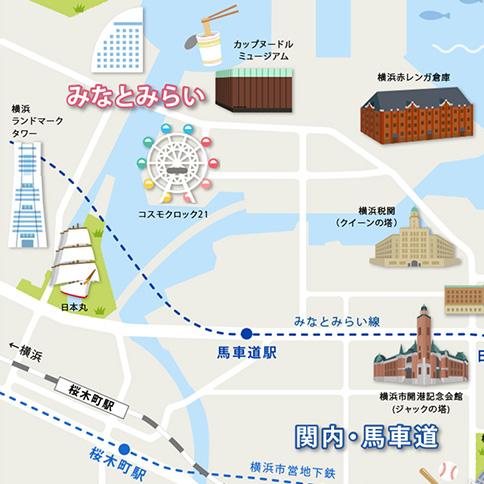 横浜 観光地図
